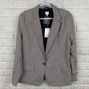 A New Day Womens Blazer Jacket Size 16 Houndstooth